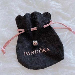 Retired Pandora Flower Clip 14k Gold